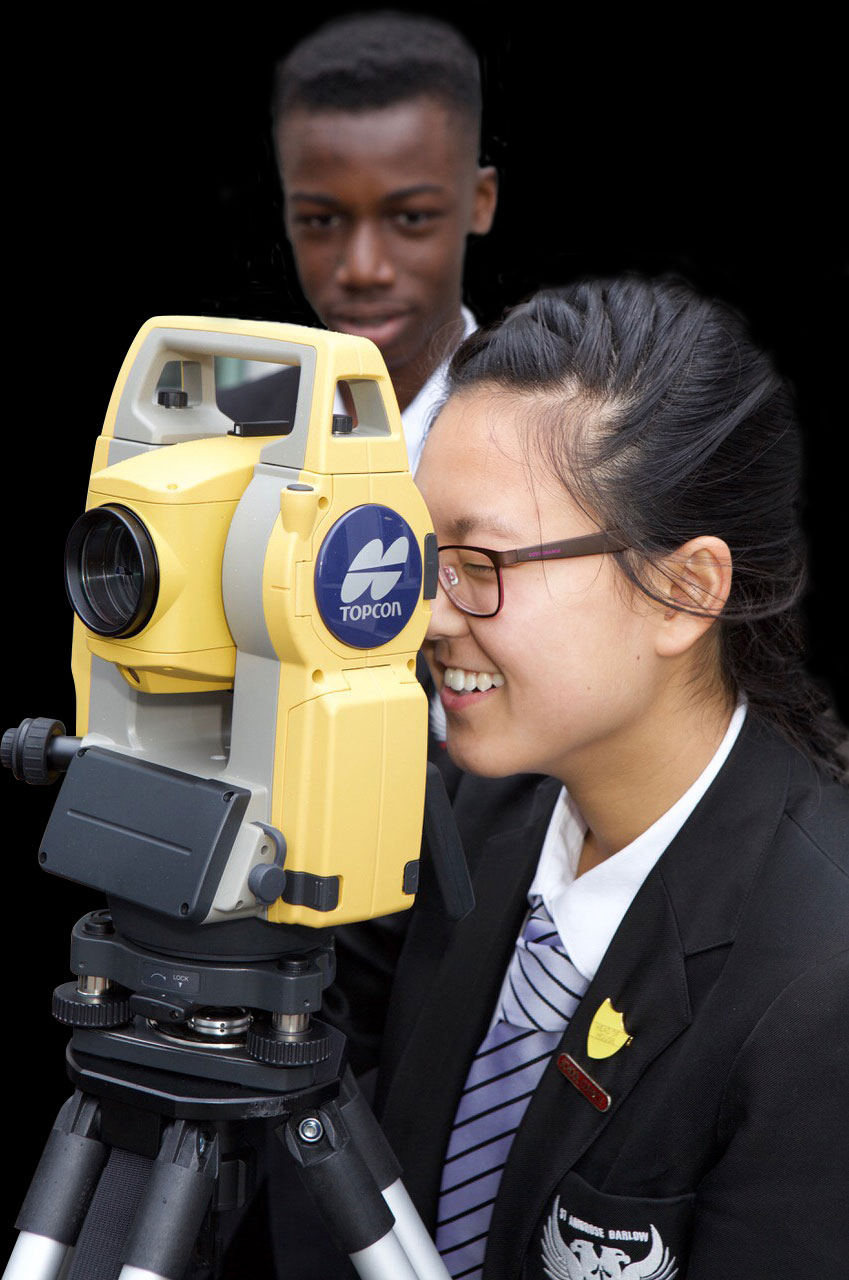 Class Of Your students photographed using surveying equipment