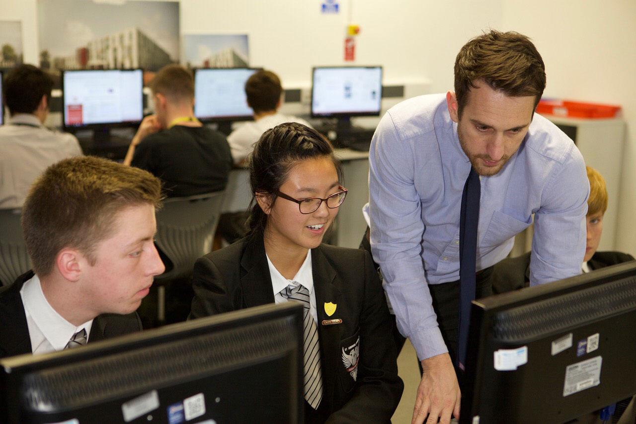 Daniel McDonagh pictured in the classroom teaching DEC