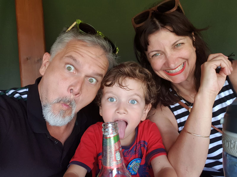 Matt pictured with his family